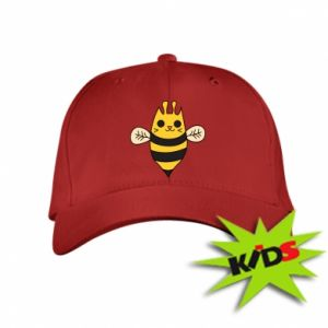 Kids' cap Cute bee smile - PrintSalon