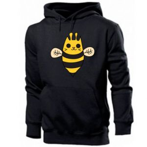 Men's hoodie Cute bee smile - PrintSalon