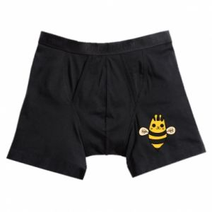 Boxer trunks Cute bee smile - PrintSalon