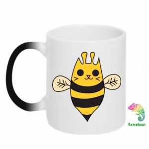 Chameleon mugs Cute bee smile - PrintSalon