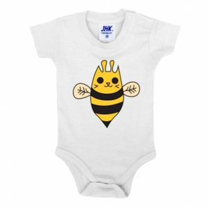 Baby bodysuit Cute bee smile - PrintSalon
