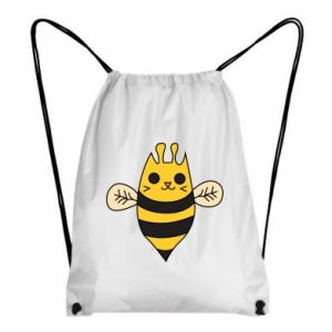 Backpack-bag Cute bee smile - PrintSalon