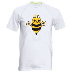 Men's sports t-shirt Cute bee smile - PrintSalon