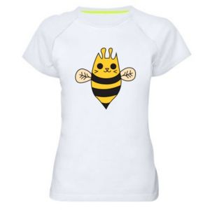 Women's sports t-shirt Cute bee smile - PrintSalon