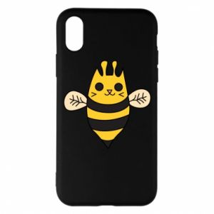 Phone case for iPhone X/Xs Cute bee smile - PrintSalon