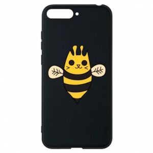 Phone case for Huawei Y6 2018 Cute bee smile - PrintSalon