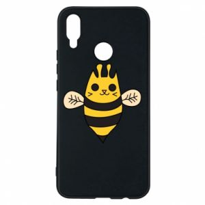 Phone case for Huawei P Smart Plus Cute bee smile - PrintSalon