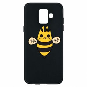 Phone case for Samsung A6 2018 Cute bee smile - PrintSalon