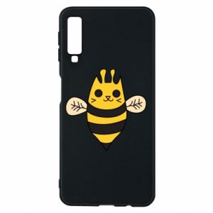 Phone case for Samsung A7 2018 Cute bee smile - PrintSalon