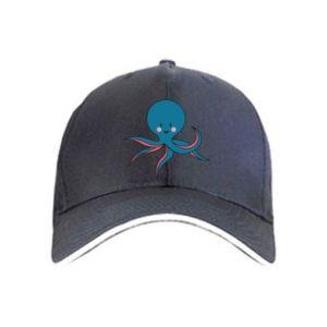 Cap Cute blue octopus with a smile - PrintSalon