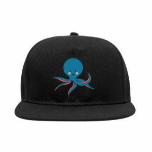 SnapBack Cute blue octopus with a smile - PrintSalon
