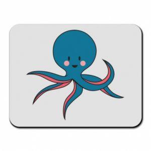 Mouse pad Cute blue octopus with a smile - PrintSalon