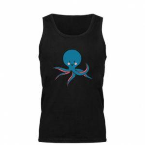 Men's t-shirt Cute blue octopus with a smile - PrintSalon