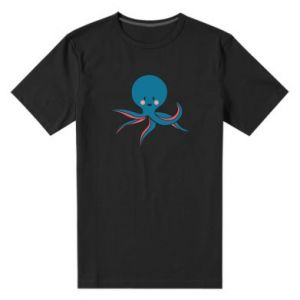 Men's premium t-shirt Cute blue octopus with a smile - PrintSalon