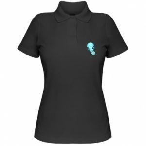 Koszulka polo damska Cute blue jellyfish