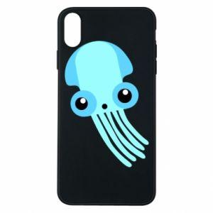 Etui na iPhone Xs Max Cute blue jellyfish