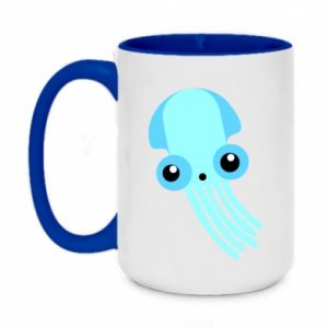 Kubek dwukolorowy 450ml Cute blue jellyfish