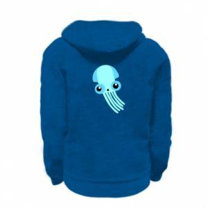 Bluza na zamek dziecięca Cute blue jellyfish