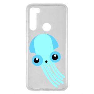 Etui na Xiaomi Redmi Note 8 Cute blue jellyfish