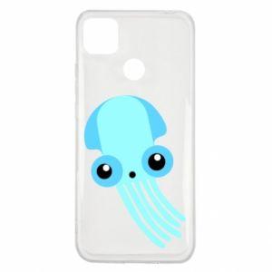 Etui na Xiaomi Redmi 9c Cute blue jellyfish