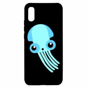 Etui na Xiaomi Redmi 9a Cute blue jellyfish