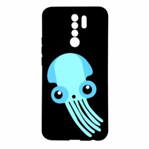 Etui na Xiaomi Redmi 9 Cute blue jellyfish