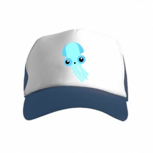 Czapka trucker dziecięca Cute blue jellyfish