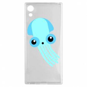 Etui na Sony Xperia XA1 Cute blue jellyfish