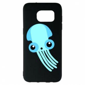 Etui na Samsung S7 EDGE Cute blue jellyfish