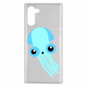 Etui na Samsung Note 10 Cute blue jellyfish