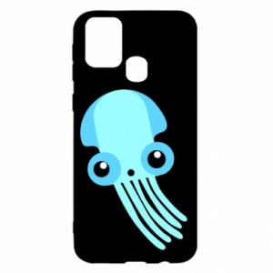 Etui na Samsung M31 Cute blue jellyfish