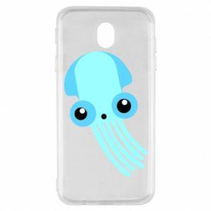 Etui na Samsung J7 2017 Cute blue jellyfish