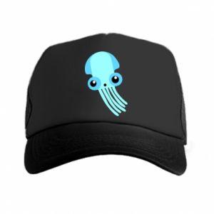 Czapka trucker Cute blue jellyfish