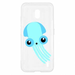 Etui na Nokia 2.2 Cute blue jellyfish