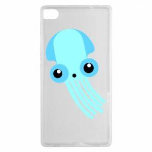 Etui na Huawei P8 Cute blue jellyfish