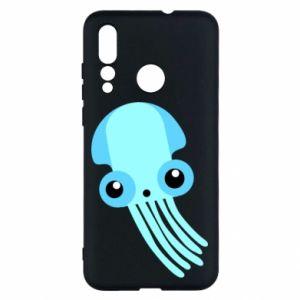 Etui na Huawei Nova 4 Cute blue jellyfish