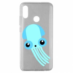 Etui na Huawei Honor 10 Lite Cute blue jellyfish