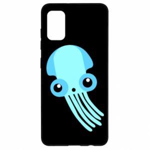Etui na Samsung A41 Cute blue jellyfish