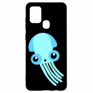 Etui na Samsung A21s Cute blue jellyfish