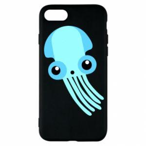 Etui na iPhone SE 2020 Cute blue jellyfish