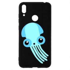 Etui na Huawei Y7 2019 Cute blue jellyfish