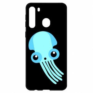 Etui na Samsung A21 Cute blue jellyfish