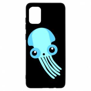 Etui na Samsung A31 Cute blue jellyfish