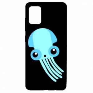 Etui na Samsung A51 Cute blue jellyfish