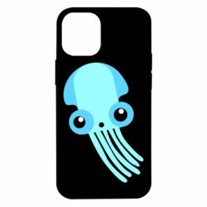 Etui na iPhone 12 Mini Cute blue jellyfish