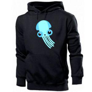 Bluza z kapturem męska Cute blue jellyfish