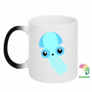 Kubek-magiczny Cute blue jellyfish