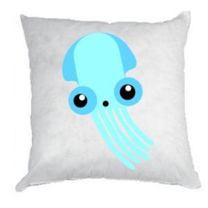 Poduszka Cute blue jellyfish