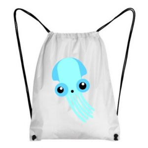 Plecak-worek Cute blue jellyfish