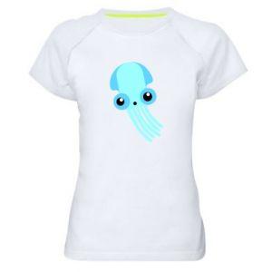 Koszulka sportowa damska Cute blue jellyfish